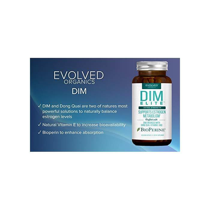 Extra Strength DIM 250mg - Plus Dong Quai, Vitamin E BioPerine (2-4
