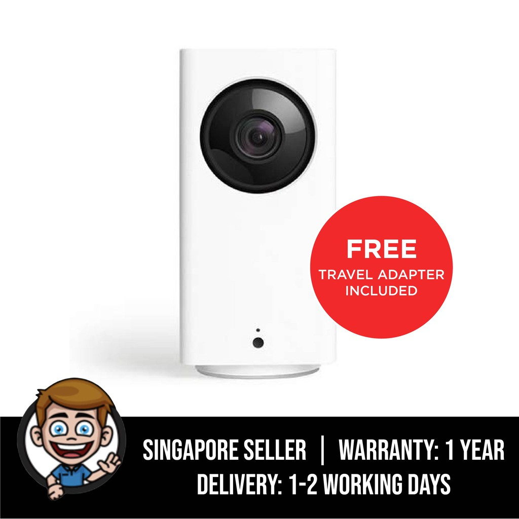 Wyze Cam Pan 1080p Pan Tilt Zoom Wi Fi Indoor Smart Home Camera With Night Vision And 2 Way Audio Works With Alexa Shopee Singapore