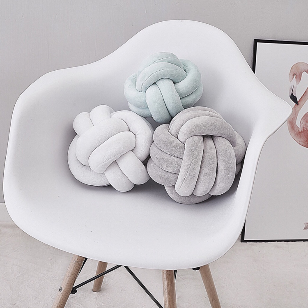 Knotted Bolster Pillow Sofa Cushion