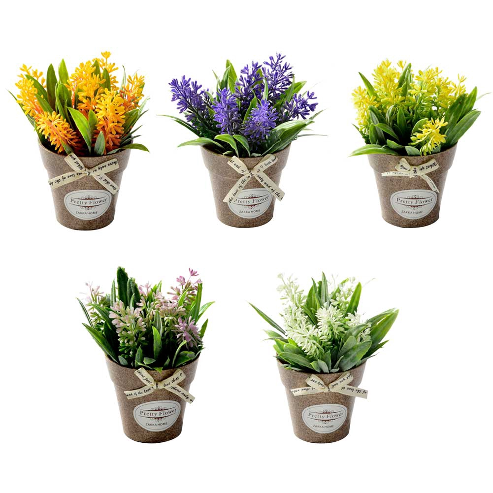Home Decor Fake Flower Small Artificial Plants Mini Potted Shopee Singapore