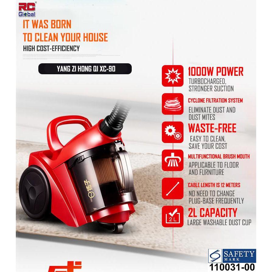 RC-Global Compact powerful bagless vacuum cleaner HEPA
