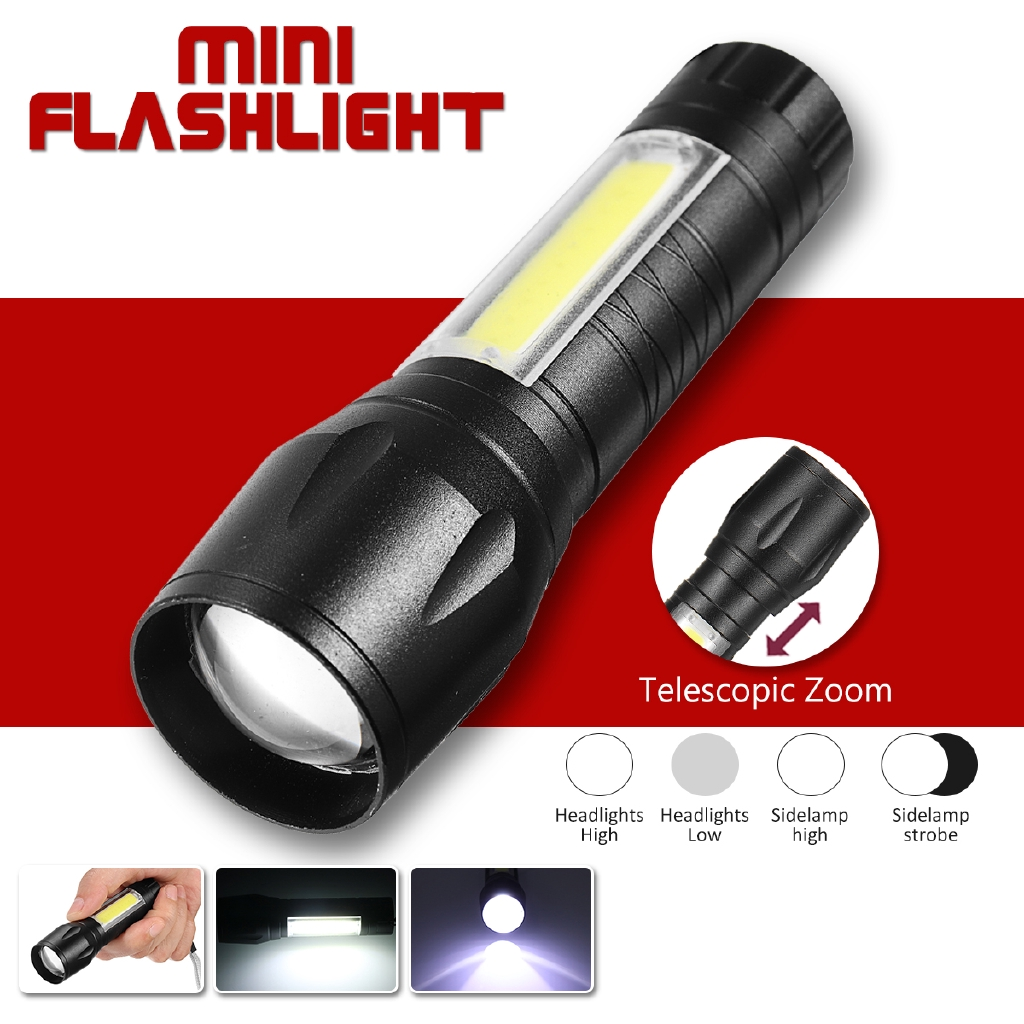 Elite LED Rechargeable Extendable Torch /& Inspection Work Lamp Light
