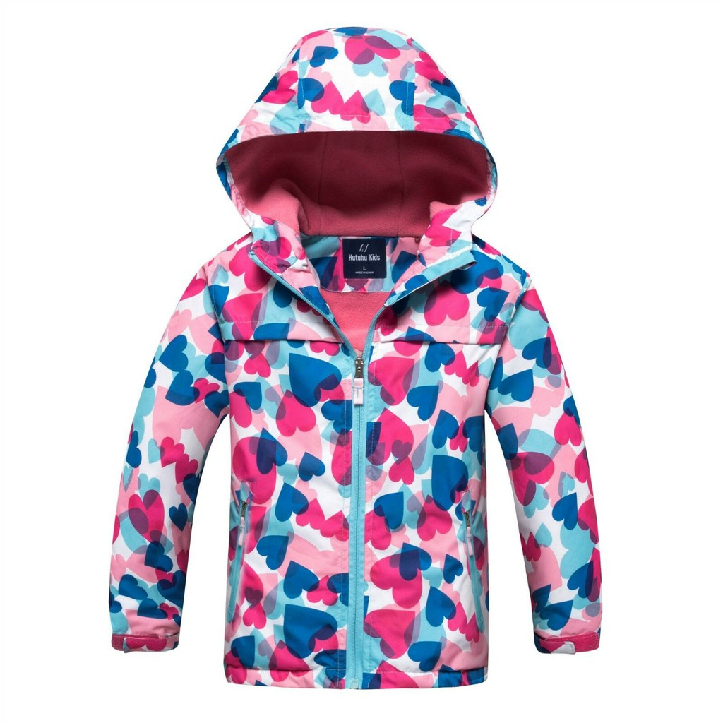 Girls Kids Children Wind Trench Coats Outdoor Jackets Waterproof Outwear Hoodies