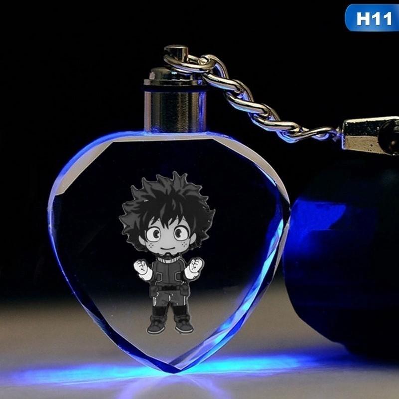 Boku No Hero Academia My Hero Academia Bakugou Katsuki LED Crystal Keychain Gift