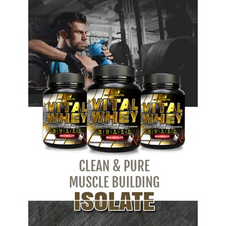 Vital Whey Halal 1kg 24g Protein Isolate Chocolate Free