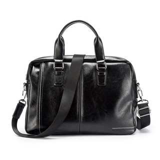 2019 New Fashion Casual Office Bag Business Simple Style PU Leather