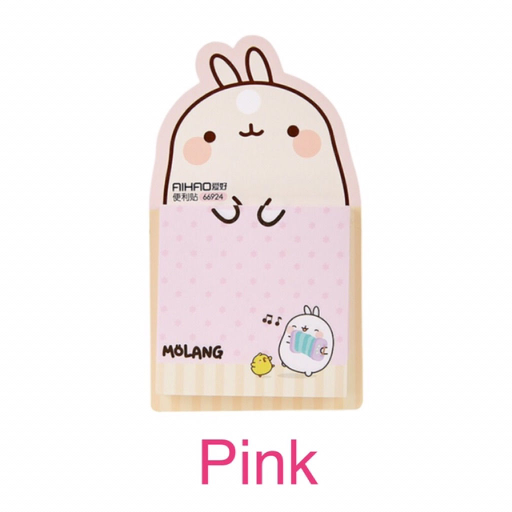 white MOLANG cute Stationery illust Memo Pads Memo Paper 100 Sheets ver.2