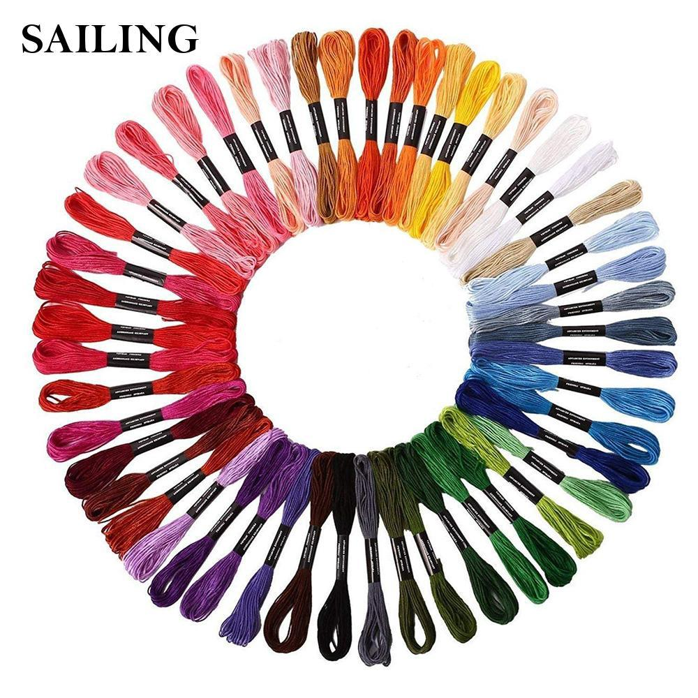 Sewing Thread Kit Rainbow Embroidery ANG Crossstitch Floss for Crafts Floss Decoration 50pcs Embroidery Threads