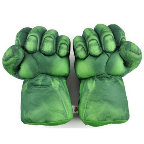 Pair Superhero Hulk Smash Hands Cosplay Gloves Plush