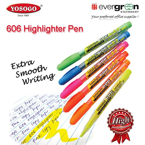 Pink Green 6 x Uni-Ball Propus Window Highlighters Yellow Chisel//Bullet