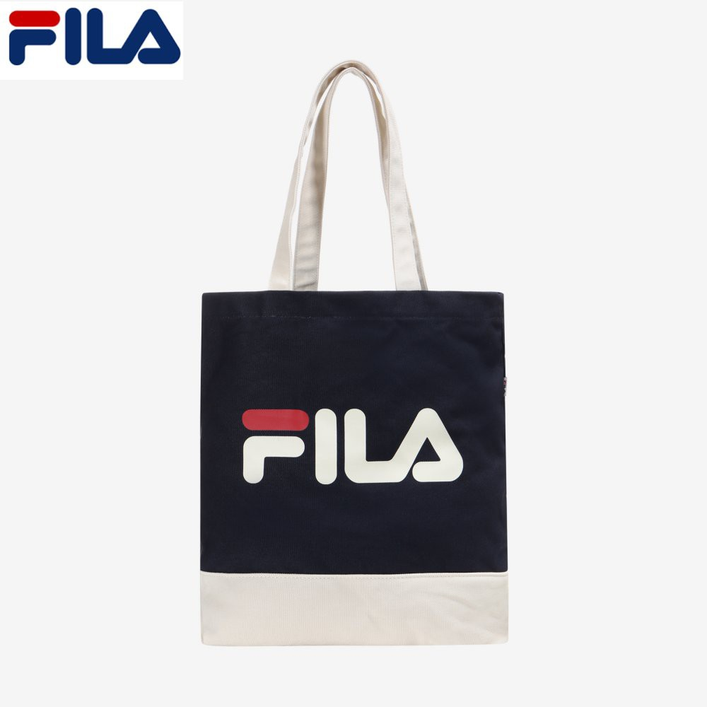 FILA Korea Color Blocking Eco Tote Bag Green   Shopee Singapore adbd5765d1