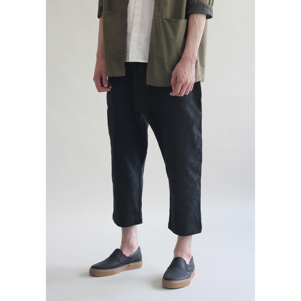 1b02874d163a Checked Linen Trouser