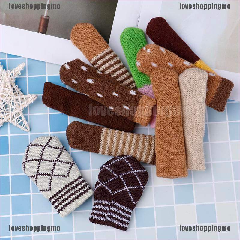 4Pcs table chair foot leg knit cover protector socks sleeve protect floor wearEL