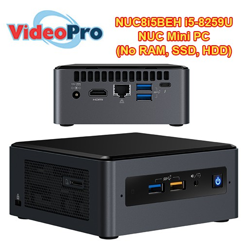 Intel NUC8I5BEH 8th Gen Core i5 Barebone System i5-8259U 2 3GHz, Dual Core  6MB
