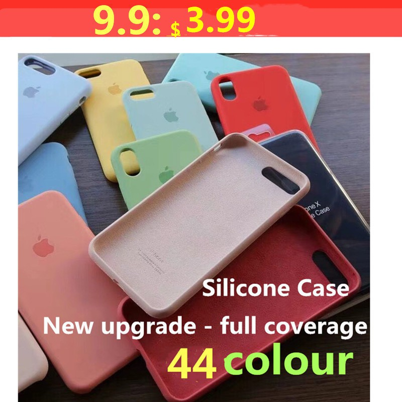 Full covered Real Liquid Silicone iPhone case iPhone X XS Max XR 7 8 6s 6p  High quality Phone Cover