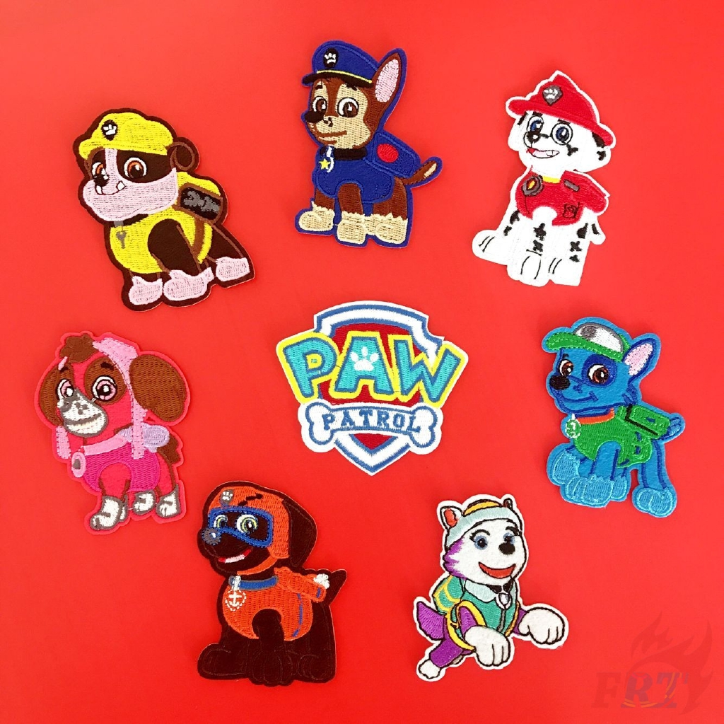 """cartoon Paw Patrol Everest Embroidered Iron//Sew ON Patch 2"""" x 3"""""""