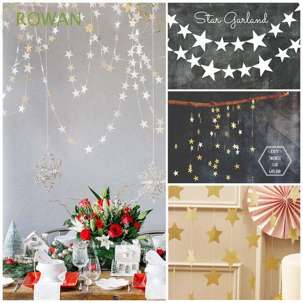 Wedding Favors Hot Romantic Hanging String Paper Star Party Decor Garland