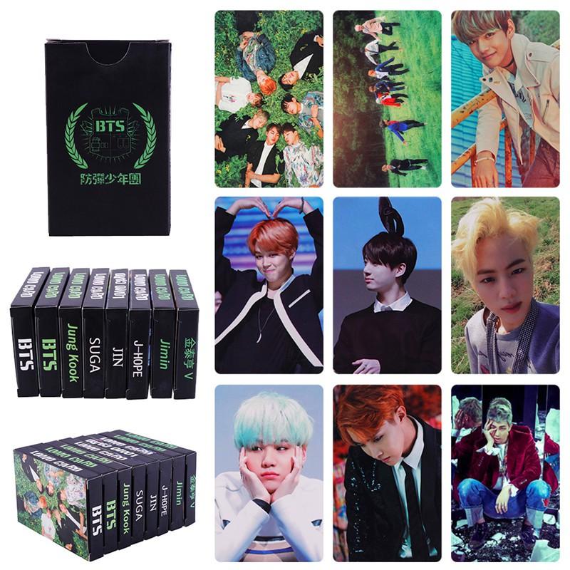 30PCS KPOP BTS LOMO Photo Fans Card Set Official Postcards Fan Collection