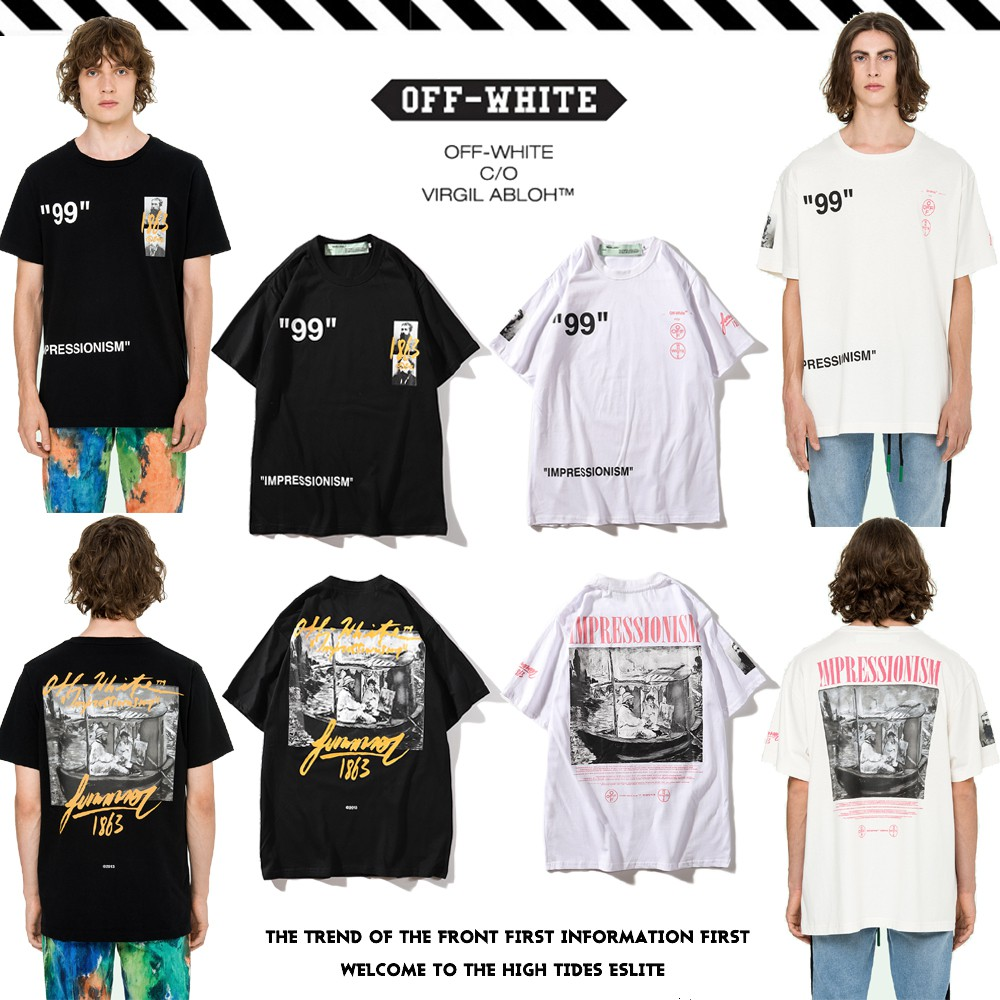 44e01eb4 OFF white impression 1863 tshirt | Shopee Singapore