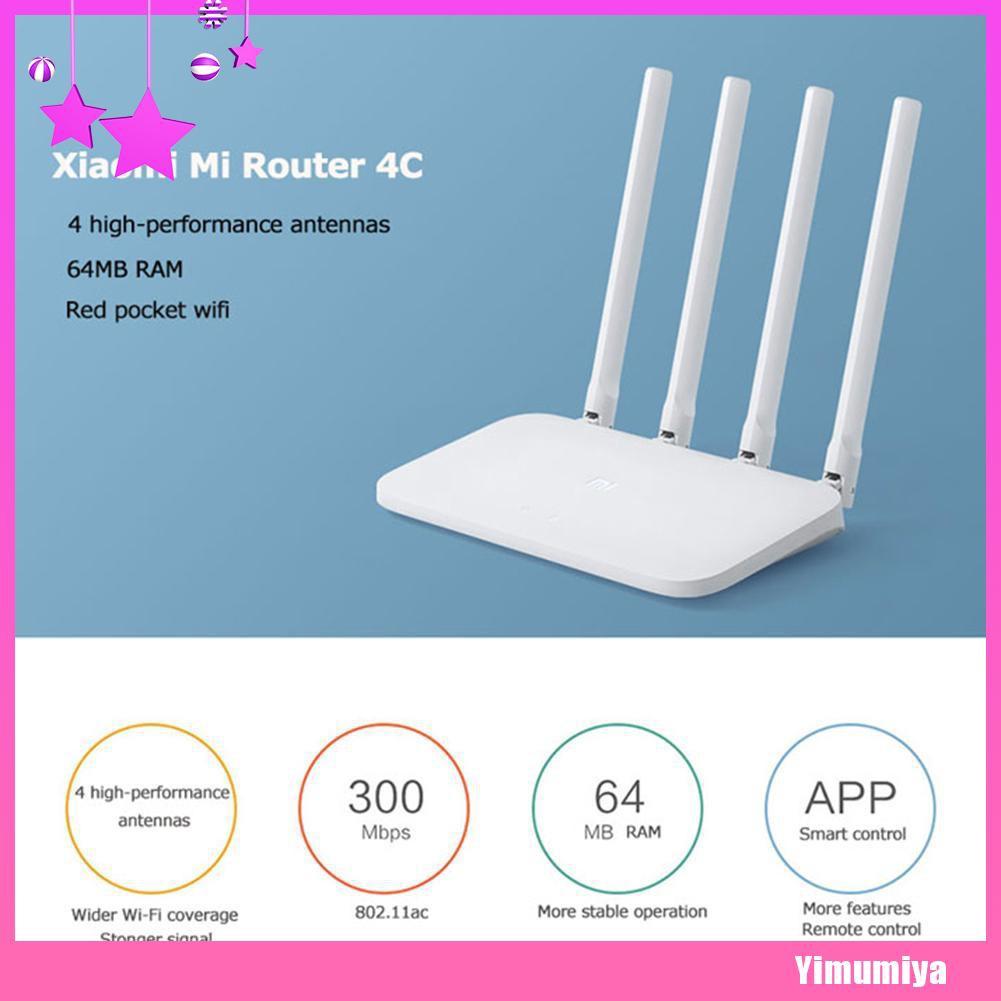 Xiaomi Mi Router 4C 4 Antennas 2.4G 1167Mbps APP Control WiFi Wireless Router AX