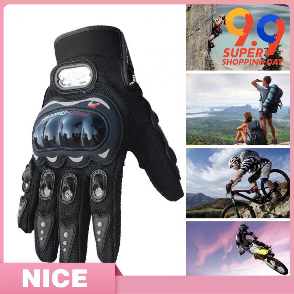 Carbon Fiber Pro-Biker Bike Motorcycle Motorbike Racing Gloves