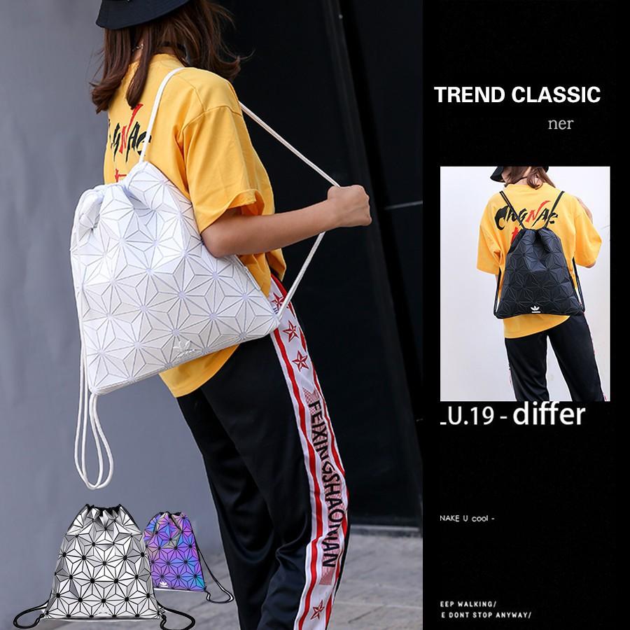 Original Adidas Issey Miyake Sling Bag 3D Trend classic Drawstring bag