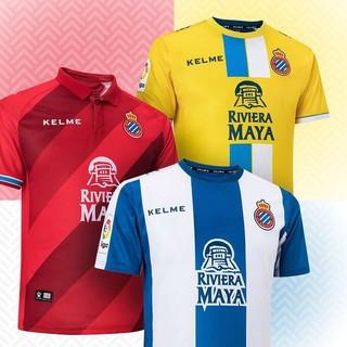 códigos de cupón venta más barata gran colección Kelme RCD Espanyol Football Jersey Wu Lei #24 Official Home ...