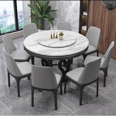 Marble Multi Functional Round Table, 8 Seater Round Table