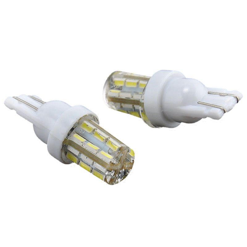 10x Xenon White 24-SMD T10 168 194 2825 LED Bulbs For Car License Plate Lights