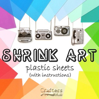 picture relating to Printable Plastic Sheets identified as Shrink Artwork Plastic Sheets (PRINTABLE Translucent White