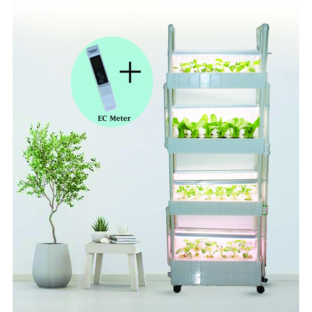 Hydroponics 4 Tier System Starter Set Soiless Nutrient film technique NFT  Gardening Urban Farm System | Shopee Singapore