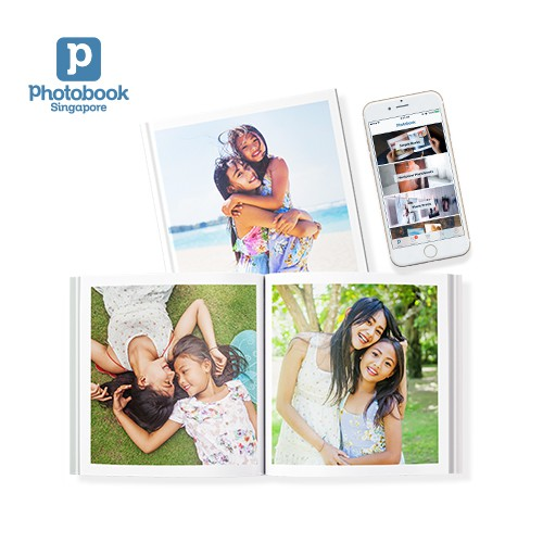 "Photobook Singapore 20-Page Personalised Hardcover Simple Photo book 6"" x 6"""