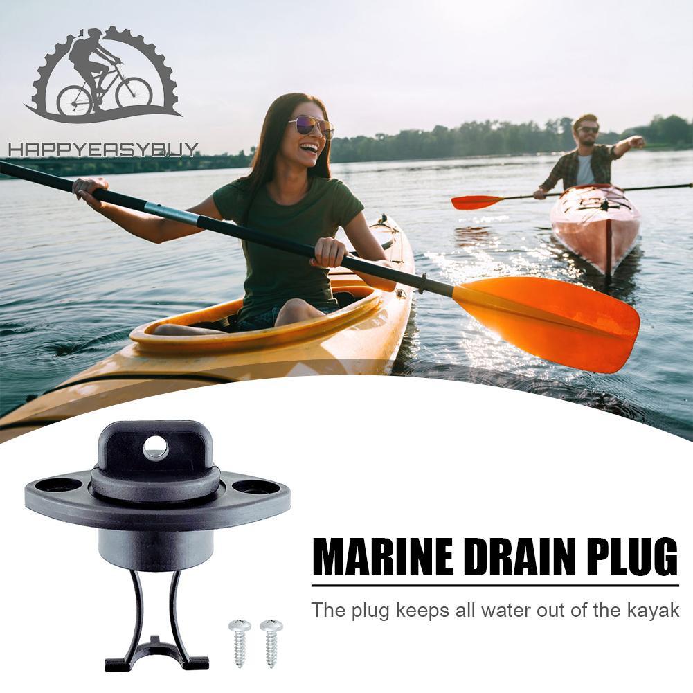 Universal Drain Plug Kit 1 Plug Bung 4 Screws For Dinghy Canoes Kayak Boat