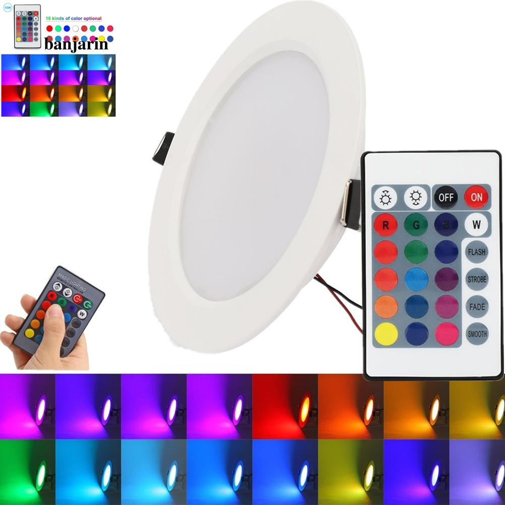 5W 10W RGB Color LED Recessed Ceiling Light Panel Down Light Lamp Remote Control