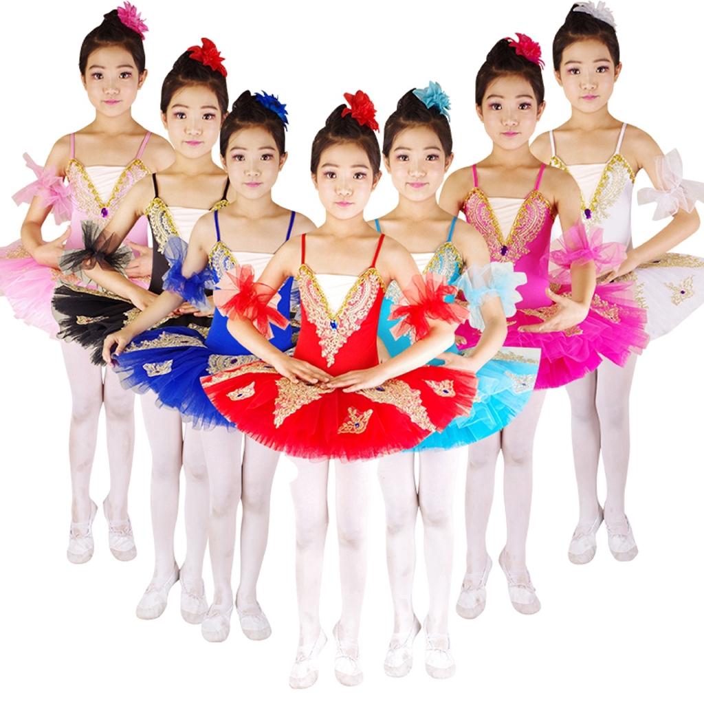 Girls Toddler Kids Royal Blue 3 Layer Tulle Tutu Ballet Dance Show Dress Up