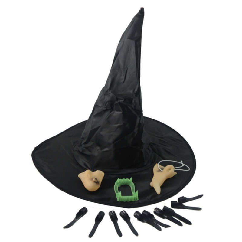 Wicked Witch Nose And Chin Halloween Costume Decoration Chic Gift Supply  SG