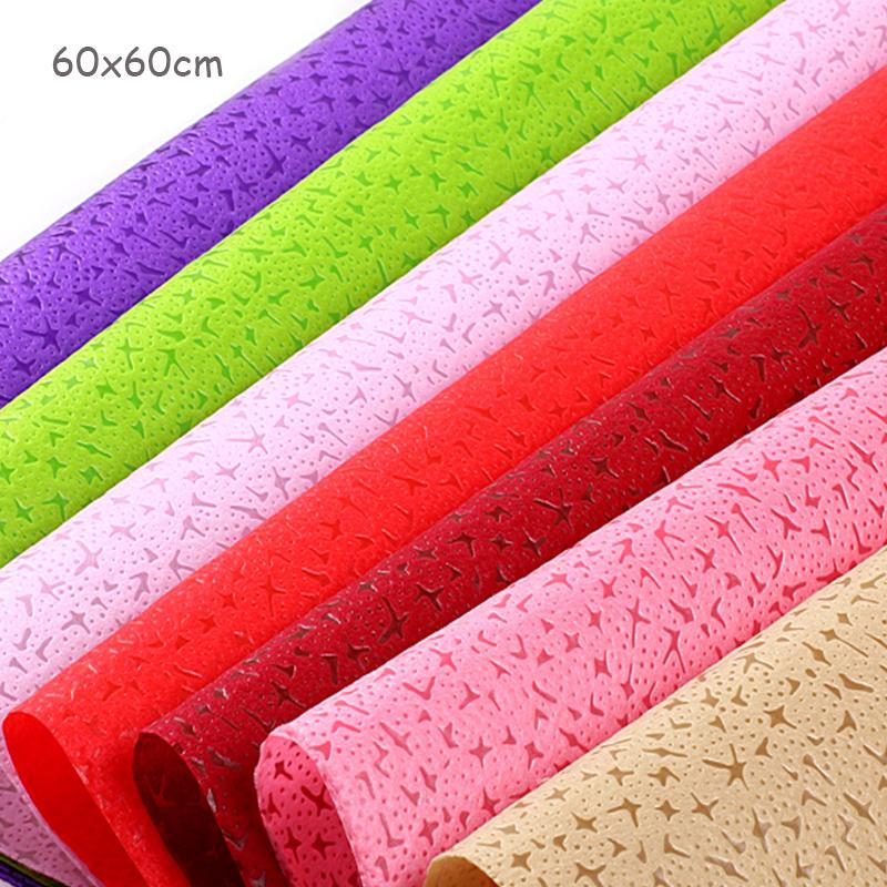 20 Sheets Waterproof Non Woven Flowers Wrapping Paper Packaging