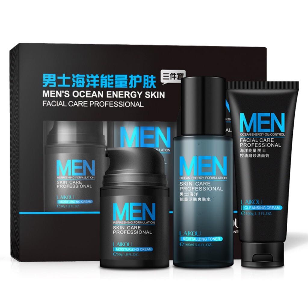 YTMH-「Buy send gift」3Pcs Men Whitening Moisturizing Skin Care Set  Moisturizing