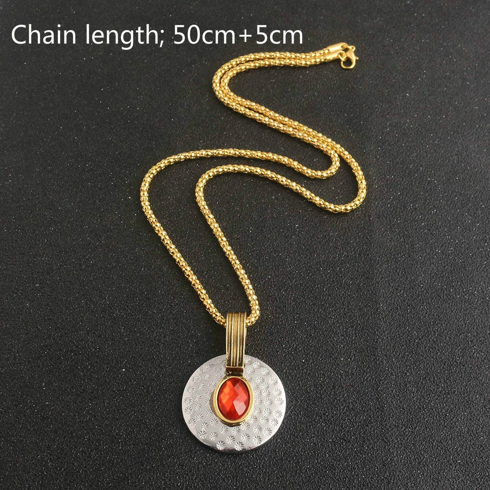 US!Captain America Civil War Avengers Scarlet Witch Necklace Red Stone Pendant
