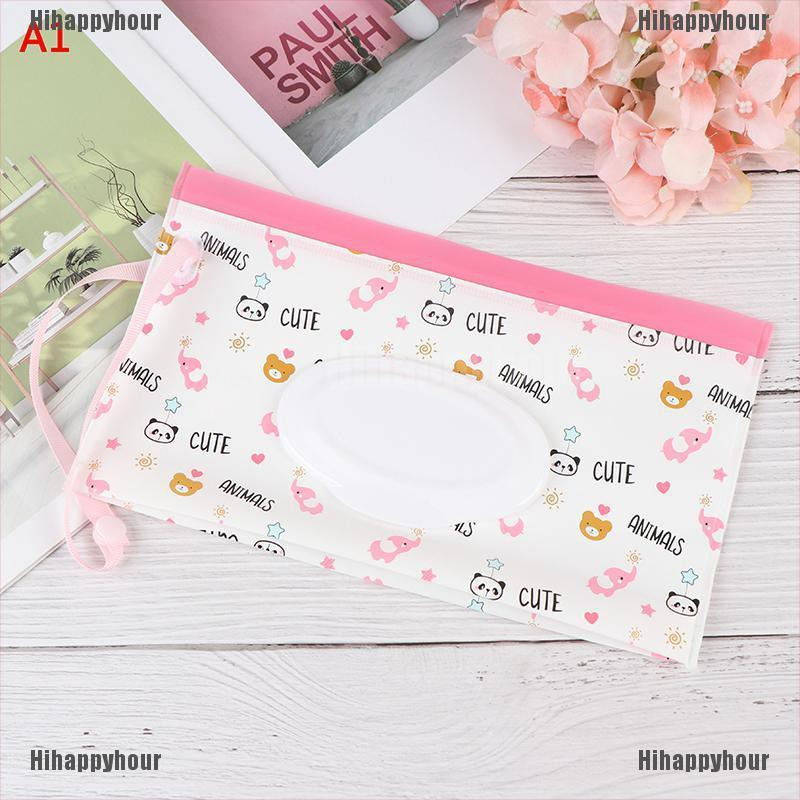 1X baby wipes bag pouch Portable outdoor easy-carry clean wet wipes bags 24*14cm
