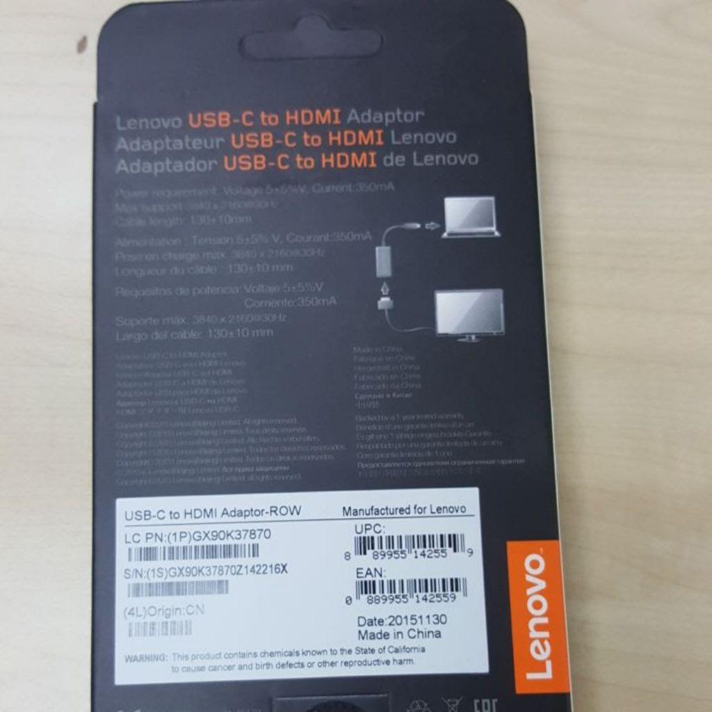 Lenovo USB-C to HDMI Adapter | Shopee Singapore