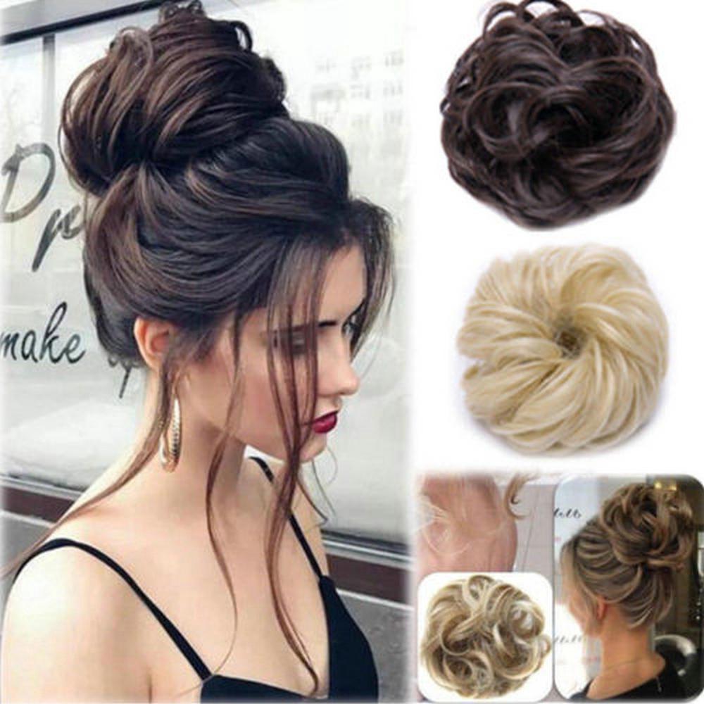 Korean Women Curly Messy Bun Hair Cover Hair Extensions Wig Hair Accessories