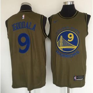 best service e7d8c b1edc Golden State Warriors #9 Andre Iguodala Olive Nike Swingman ...