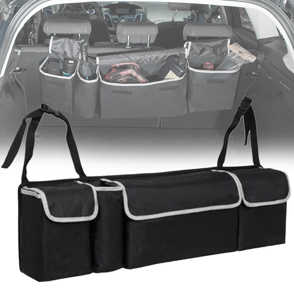 Heavy Duty Fold-able 4 Pocket Car Boot Trunk Storage Tidy Organiser Hanging