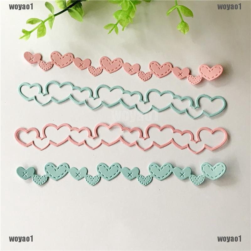 Love Banner Design Metal Cutting Dies For DIY Scrapbooking Album Paper Cards SG