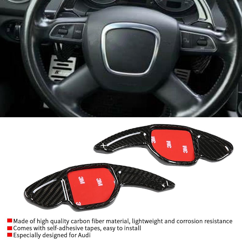 Cuque 2 Pcs Car Air Outlet Frame Cover Trim ABS Carbon Fiber Style Side Air Vent Cover Trim for 5 Series F10 2011 2012 2013 2014 2015 2016