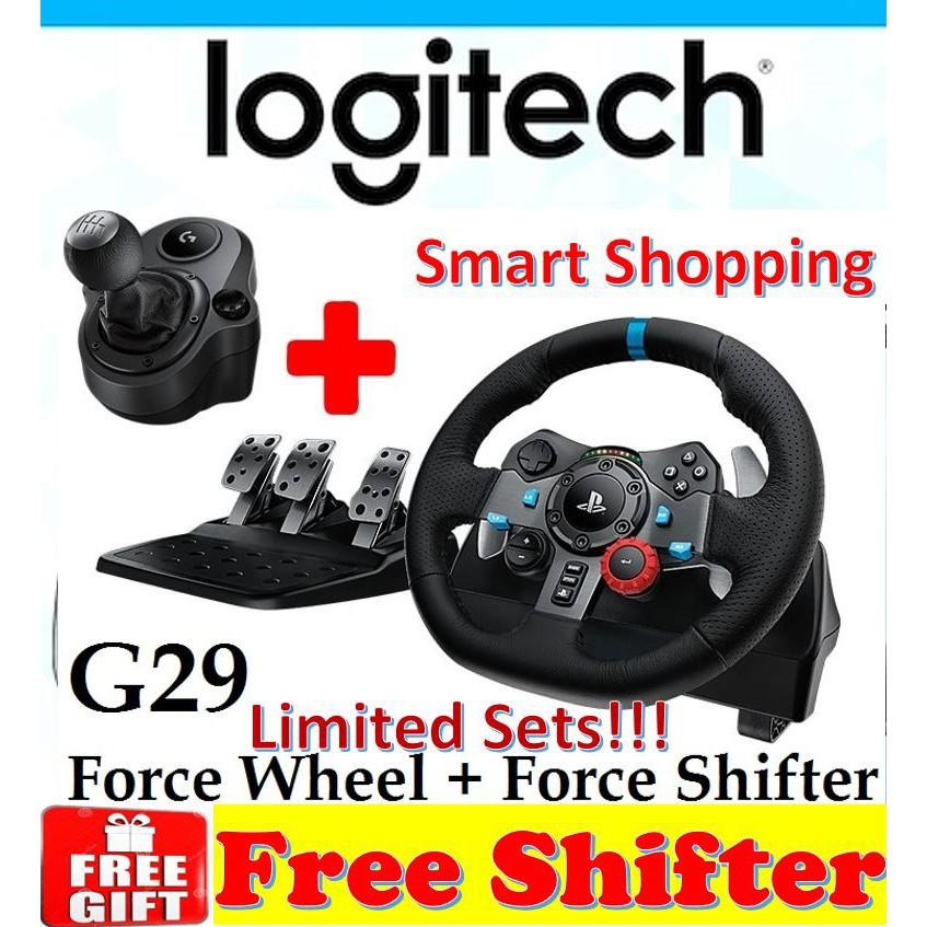 Logitech G29 Driving Force Racing Wheel for PS4   PS3   PC + Logitech  Shifter