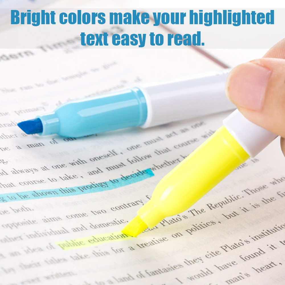 6 colors Highlighter Gel Bible Highlighter Colored Markers Study School Supplies