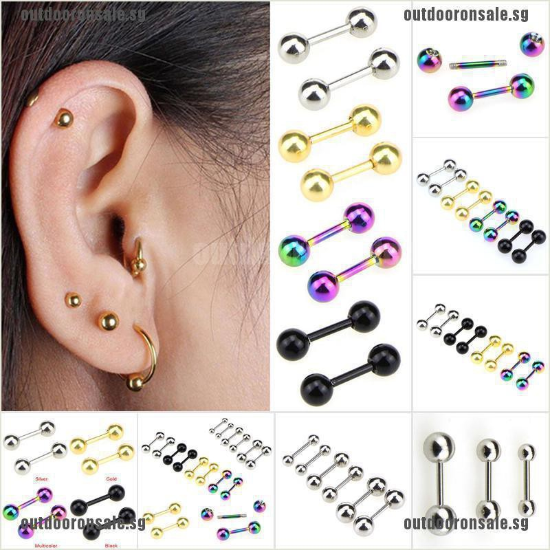 Ods Stainless Steel Barbell Ear Cartilage Tragus Helix Stud Bar