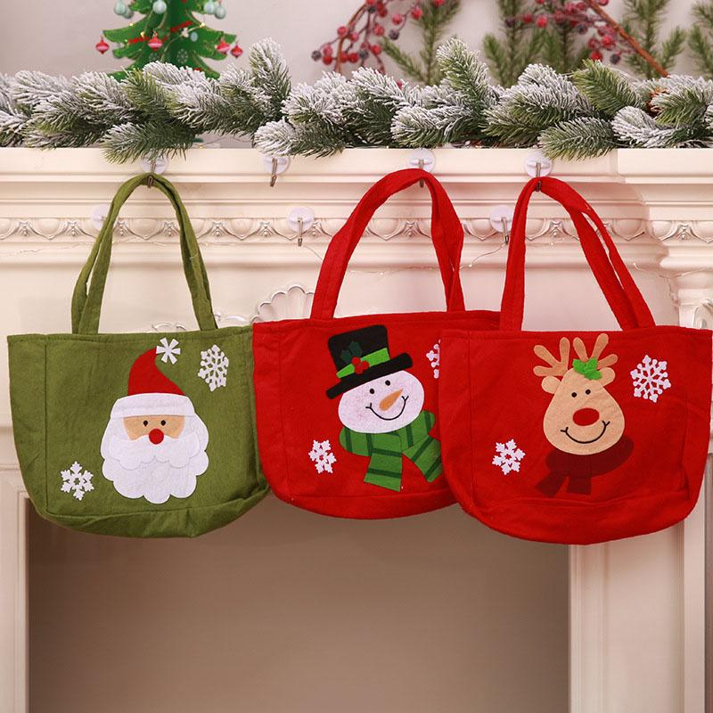 Christmas Gift Bags For Kids.Christmas Handbag Kids Gift Bags Santa Elk Snowman Christmas Candy Gift Bags